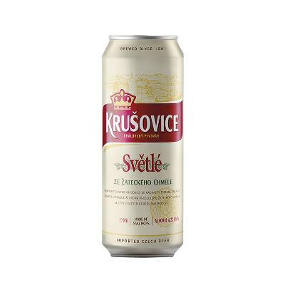 *Krušovice 0,5L Pivo Limenka.