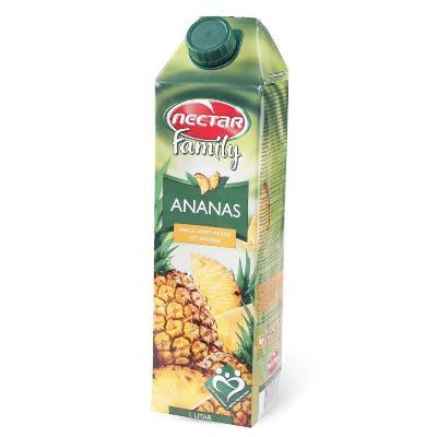 Ananas 1L Nectar family sok brik.