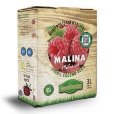 Bag in box malina 3L sok Zdravo Produkt