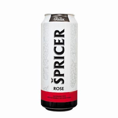 Špricer Rose 0,5 Limenka Rubin.
